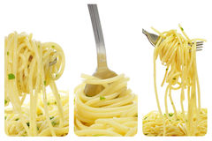 Spaghetti collage Royalty Free Stock Images