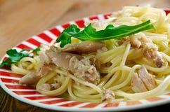 Spaghetti con baccala Stock Image
