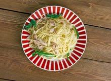 Spaghetti con baccala Royalty Free Stock Photography