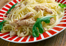 Spaghetti con baccala Royalty Free Stock Images