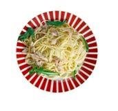 Spaghetti con baccala Stock Photography