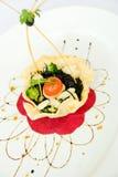 Spaghetti con l'inchiostro del calamaro Immagine Stock