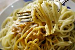Spaghetti con la salsa di pomodori Immagini Stock Libere da Diritti