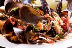Spaghetti Con Le Cozze Stock Photo