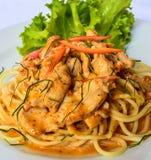 Spaghetti con le spezie Tailandia Fotografia Stock