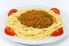 Spaghetti con salsa bolognese Fotografia Stock Libera da Diritti