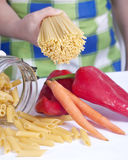 Spaghetti cook Royalty Free Stock Photos