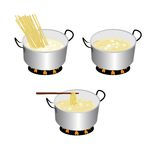 Spaghetti. Cooker on white background Stock Photography