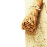 Whole wheat spaghetti Royalty Free Stock Photo