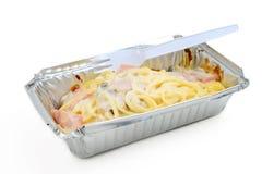 Spaghetti with creamy sauce Royalty Free Stock Photo