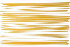 Spaghetti. Crude spaghetti on white background Royalty Free Stock Photos