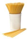 Spaghetti crus Photo libre de droits