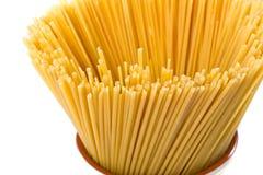 Spaghetti crus Photos libres de droits