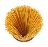 Spaghetti crus Images libres de droits
