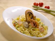 Spaghetti cucinati Fotografia Stock