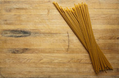 Spaghetti on Cutting Board Royalty Free Stock Photo