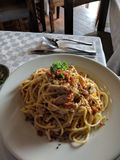 Spaghetti délicieux Photo libre de droits
