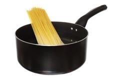 Spaghetti d'ebollizione Fotografia Stock Libera da Diritti