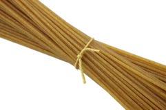 Spaghetti de blé entier Image libre de droits