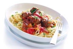 spaghetti de boulettes de viande Image libre de droits