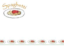 spaghetti de carte Photo stock
