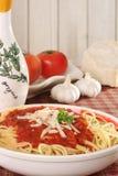 spaghetti de dîner photographie stock libre de droits