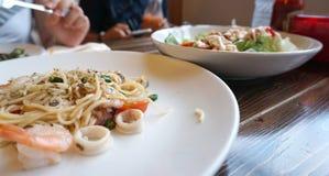 Spaghetti de fruits de mer Photo libre de droits