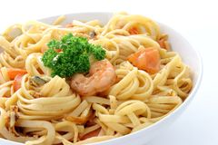 spaghetti de mer de nourriture photos stock