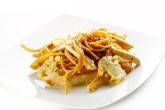 Spaghetti de soja Photo libre de droits
