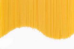 Spaghetti in de vorm van een golf Stock Foto's