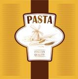 Spaghetti. deegwaren. Bakkerij. etiketten, pak voor spaghet vector illustratie