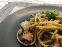 Spaghetti del tartufo Fotografia Stock Libera da Diritti