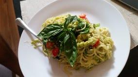 Spaghetti dell'avocado Immagini Stock Libere da Diritti