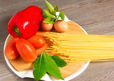 Spaghetti della pasta Fotografie Stock