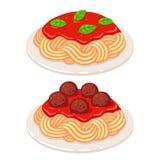 Spaghetti della salsa al pomodoro illustrazione vettoriale