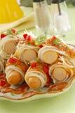 Spaghetti della salsiccia Fotografie Stock