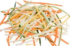Spaghetti della verdura grezza Fotografia Stock Libera da Diritti