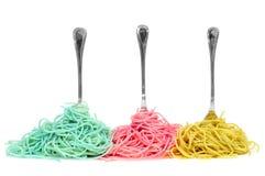 Spaghetti di verdure Fotografia Stock Libera da Diritti