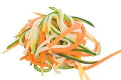 Spaghetti di verdure Immagini Stock