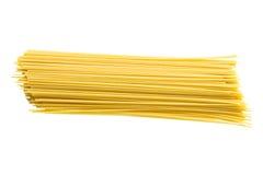 Spaghetti die op wit wordt geïsoleerd royalty-vrije stock fotografie