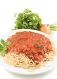 Spaghetti dinner Royalty Free Stock Image