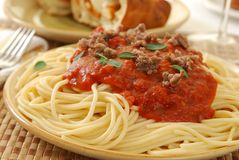 Spaghetti Dinner Stock Photography