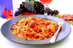 Spaghetti Dinner Royalty Free Stock Photos