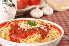 Spaghetti dinner. Royalty Free Stock Photo