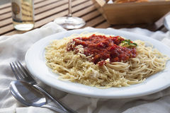 Spaghetti Dinner Stock Photos