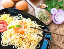 Spaghetti dinner Royalty Free Stock Images