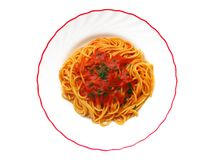 Spaghetti dish Royalty Free Stock Images