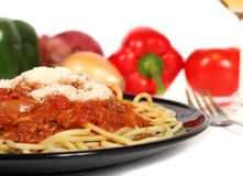 Spaghetti dish Stock Photos
