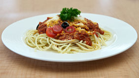 Spaghetti Dish Stock Images
