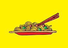 Spaghetti doodle Royalty Free Stock Photos